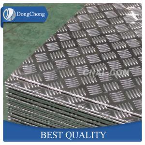 Best 5 Bar Aluminium Checker Plate , 1060 3003 5052 Aluminum Plate For Truck Body wholesale