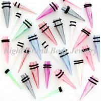 Best Pearlescent Ear Stretchers Tapers 12mm Non-Toxic , UV Acrylic Plug wholesale