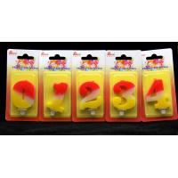 Best Contrast Color 100% Handmade Number Candle with Red and Yellow Coloring wholesale
