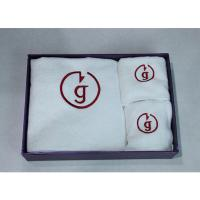 Best embroider custom logo towel in gift box packing wholesale