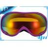 China CE FDA Purple OTG Snowboard Goggles / Retro Ski Goggles With Mirror Lens wholesale