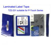 China Compatible Label And Ribbon Tape Black On White Width 12mm Length 8m Tape TZ2-231 on sale