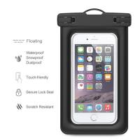 Best Floating Waterproof Phone Pouch , Water Resistant Pouch With Air - Filled Frame wholesale