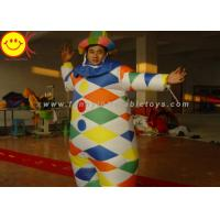 Best Nylon Multicolor Inflatable Clown Costume With Hat Suitable For 1.8 Meters Man wholesale