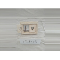 China Heart Shaped White Wooden 6x4 Inch Album Picture Frames on sale