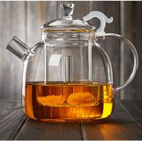 Best 1900ML Heat-Resisitant Microwave Safe Glass Tea Pot Coffee Maker Infuser With Glass Basket Direct From Factory wholesale