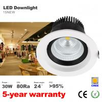 Best 30W LED Downlight 140mm hole 24 degree or 60 degree beam angle CREE COB LED lamp wholesale