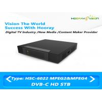 Mini Cardless Steel DVB C Set Top Box 75 Ω Teletext Output With OSD