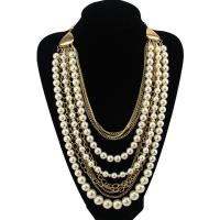 China Fashion Women Vintage Long Pearl Necklace&Pendant Multilayer Statement Necklace on sale