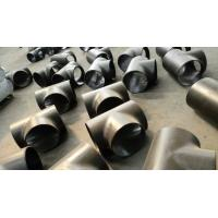 China Alloy Tee Joint Pipe Fittings Equal Tee Tube Connector For Material Wp22 on sale