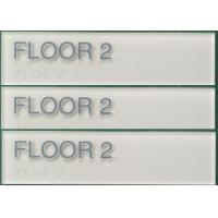 China Thermoformed 6X2 ADA Compliant Signs For Floor 1/4 Acrylic Panel Straight Edge on sale