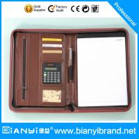 Best PU Leather portfolio with pad and retractable handle wholesale