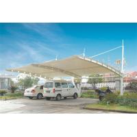Buy cheap Sun Shade Tension Membrane Structures For Car Parking With PVDF Roof Cover from wholesalers