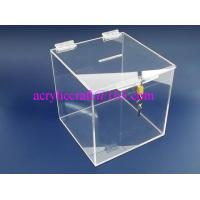 Best Cube Shape acrylic donation box / vote box / suggestion box with lock wholesale