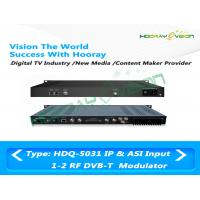 Buy cheap DVB - T 1U COFDM IP ASI Dual RF Modulator 50~960MHz Terrestrial Cable Web Browser product