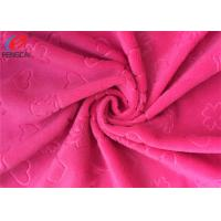 China 2mm Pile High Embossed Minky Plush Fabric , Soft Velboa Fabric For Baby Blanket on sale