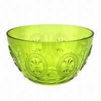 Best Plastic Salad Bowl, Made of PS with Embossed Pattern wholesale