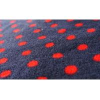 Best 100% Polyester Dot Print Coral Fleece Fabric wholesale