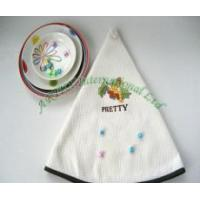 Best Round Waffle Kitchen Towel / Embroidery wholesale