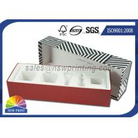 China Luxury Paper Gift Box Cosmetic Rigid Cardboard Box With Flocking Plastic Blister on sale