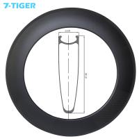 China 700C clincher rim 88mm depth 23mm width road disc track bike carbon rims 24 holes no braking surface carbone bicycle on sale