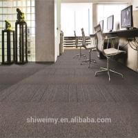 Best Fabric product plain stripe pattern bitumen backing PP carpet tile wholesale