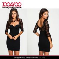 China New Fashion Black Sweetheart Neck Bodycon Dress Women Elegant Black Lace Sexy Party Dress on sale