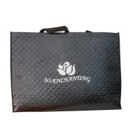 China Black 75g Quilted Square Veins Bag, Non Woven Carry Bag With Printing Logo For Packaging on sale