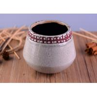 China Modern Personalized Ceramic Candle Holder , Concrete Candle Jars For Home Decoration on sale