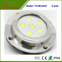 Best 6X1W Optional Green,Blue or White Marine Boat LED Underwater Surface Mount Dome LED light wholesale