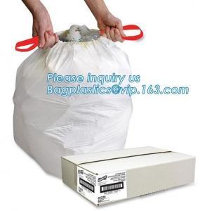 Garbage bags 10 Liter Drawstring Bathroom Trash Bags Mini Wastebasket Can Liners for Home Office Bins, bagease, pack