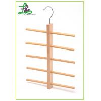 China Wooden belt hanger and tie hanger with 5 layers on sale