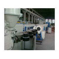 Best Low Noise Pvc Pipe Manufacturing Machine , Plastic Pipe Production Line Stable Performance wholesale