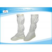 Custom 0.5CM White Stripe or Grid 19 Inch Height Dustproof Anti Static Safety Boots