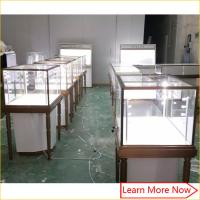 China Brush stainless steel retail jewelry showcase display showroom design for rings on sale