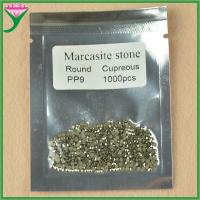 Best factory price pp9 synthetic marcasite loose stone round beads for fashion Jewelry wholesale