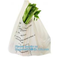 Cheap ECO-friendly high quality compostable towel Packing bags with customized design, t shirt Compostable plastic bag for sale
