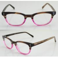 Best Fashion Oval Handmade Acetate Pink Womens Eyeglass Frames With Custom Logo wholesale