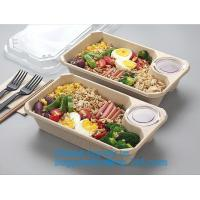 Best Biodegradable Microwave Bamboo Sugarcane Bagasse Food Container,Eco friendly disposable sugarcane food container with li wholesale