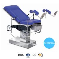 China Stainless Steel Hydraulic Operation Table Blue Mattress Labor Control Gyn Examination Chair on sale