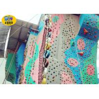 China Amusement Park Outside Play Equipment , Children & Adult Outdoor Rock Climbing Wall on sale