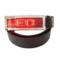 Best LED runing signs and message belt buckle wholesale