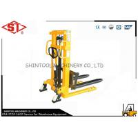 Best Single Mast Yellow Hand Pallet Stacker With 1.6 Meters Lifting High 1.0 Ton wholesale