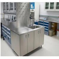 China School Stainless Steel Cleanroom Furniture Table Two / Three Way Socket on sale