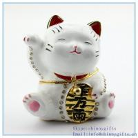 Best White japanese lucky cat ring holder on sale SCJ789 wholesale