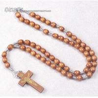 China cord rosary,cord wood rosary,prayer cord rosray,holy rosary with wood cross on sale