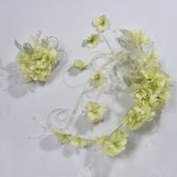 Best Hydrangea A Series Bridal Headwear with Light Color, Used for Wedding Gown and Dress wholesale