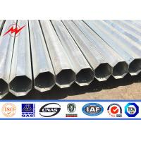 China 30ft 35ft 40ft Electrical Power Pole Hot Dip Galvanized Steel For Distribution on sale