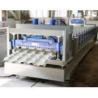 Best 0.4-0.8mm Thick Glazed Roof Making Machine , Glazed Tile Roll Forming Machine wholesale