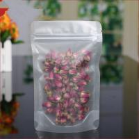 China Matte PE / PET Clear Stand Up Zipper Pouch Bags , Tea Sachet Flexible Pouch Packaging on sale